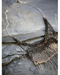 Free People | Gray Dip Dye Crochet Chain Necklace | Lyst
