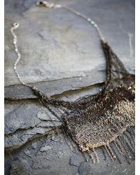 Free People | Metallic Dip Dye Crochet Chain Necklace | Lyst