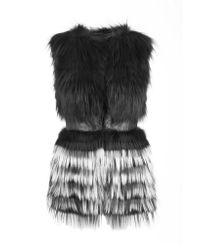Yigal Azrouël Gray Ombre Fur Vest
