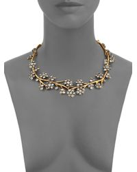 Oscar de la Renta - Metallic Crystal Branch Collar Necklace - Lyst