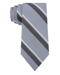 DKNY - Blue Silk-Blend Stripe Tie for Men - Lyst