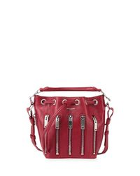 Saint Laurent - Red Emmanuelle Zip Bucket Bag - Lyst
