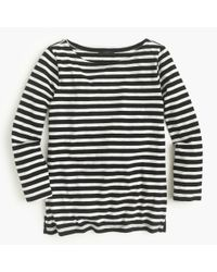 J.Crew | Black Striped Cotton T-Shirt | Lyst
