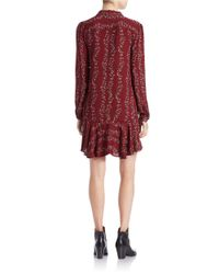 Free People   Red Button Front Shirtdress   Lyst