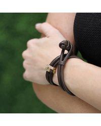 Mizuki | Brown Diamond Slider Wrap Bracelet/choker | Lyst