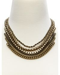 Banana Republic | Metallic Brass Chain Necklace | Lyst