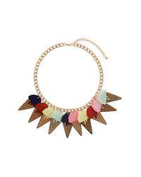 TOPSHOP - Multicolor Ice Cream Cone Necklace - Lyst