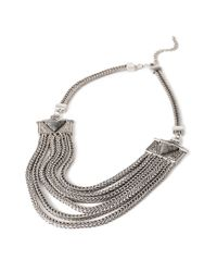 Forever 21 - Metallic Layered Chain Faux Stone Necklace You've Been Added To The Waitlist - Lyst