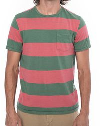 Faherty Brand - Green Ss Pocket T Shirt for Men - Lyst