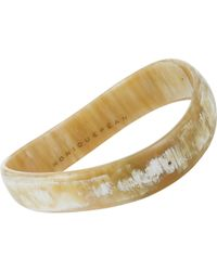 Monique Péan - Natural Buffalo Horn & Black Diamond Wave Bangle - Lyst