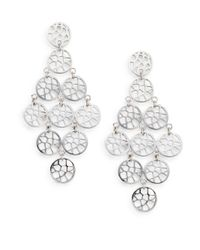 Ron Hami | Metallic Silver Lining Sterling Silver Lace Chandelier Earrings | Lyst