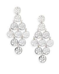 Ron Hami - Metallic Silver Lining Sterling Silver Lace Chandelier Earrings - Lyst