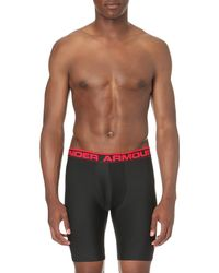 Under Armour - Black Original Branded Stretch-jersey Boxer Briefs for Men - Lyst