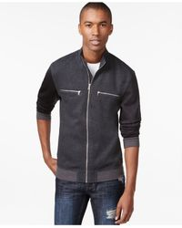 INC International Concepts | Gray Men's Nova Foil Knit Jacket | Lyst