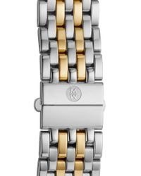 Michele - Metallic 'ascalon' 18mm Two-tone Bracelet Watch Band (limited Edition) - Lyst
