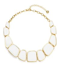 Kate Spade | White Enamel Statement Necklace | Lyst