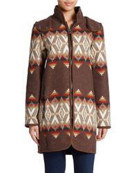 Pendleton - Brown Santa Fe Wool-blend Coat - Lyst