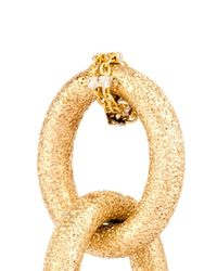 Carolina Bucci - Yellow-Gold Sparkly Double-Link Earrings - Lyst