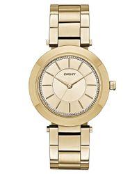 DKNY - Metallic Ladies Glitz Stanhope Slim Watch - Lyst