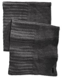 Calvin Klein | Gray Ribbed Muffler Scarf for Men | Lyst