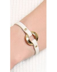 Marc By Marc Jacobs - White Link Leather Bracelet - Lyst