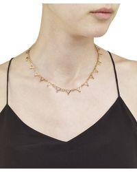 Arme De L'Amour | Metallic Triangle Sphere Necklace / Sale | Lyst