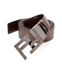 Fendi | Brown America Reversible Leather Belt for Men | Lyst