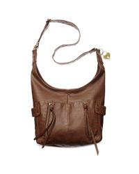 American Rag Brown Sunny Crossbody Hobo Bag