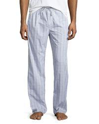 Ike Behar | Blue Check Lounge Pants for Men | Lyst