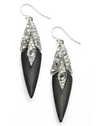 Alexis Bittar | Black 'lucite' Fractured Crystal Drop Earrings | Lyst