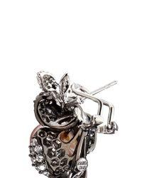 Anabela Chan - Metallic 'mini Blossom' Pearl Diamond Pavé 18k Black Gold Earrings - Lyst