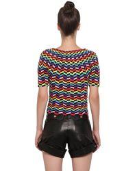 Helen Rödel - Multicolor Hand Crocheted Chevron Cotton Sweater - Lyst