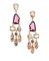 ABS By Allen Schwartz - Metallic Some Like It Hot Faceted Chandelier Earrings - Lyst