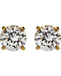 Carat* | Metallic Round 0.5ct Solitaire Stud Earrings | Lyst