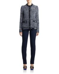 Lanvin - Blue Sequined Tweed Jacket - Lyst