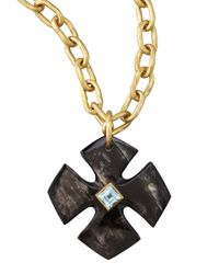 Ashley Pittman | Brown Kimalta Pendant Dark Horn | Lyst