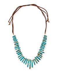 Panacea | Blue Long Jasper Stick Necklace | Lyst