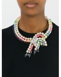 Shourouk | Multicolor 'bow Rainbow' Necklace | Lyst