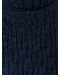 JOSEPH - Blue Ribbed Turtleneck Sweater - Lyst