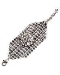 Lulu Frost - Metallic Mesh Bracelet - Silver - Lyst