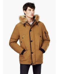 Mango | Brown Detachable Hood Feather Down Coat for Men | Lyst