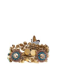 Erickson Beamon | Metallic Iron Butterfly' Pearlescent Appliqué Mix Crystal Bracelet | Lyst