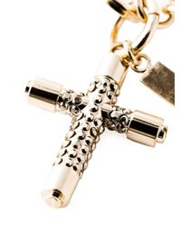 Givenchy - Metallic Crucifix Charm Bracelet - Lyst
