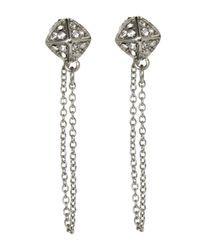 Rebecca Minkoff | Metallic Silver-Tone Chain Stud Earrings | Lyst