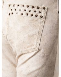 Isabel Marant - Natural 'Valone' Slim Fit Jeans - Lyst
