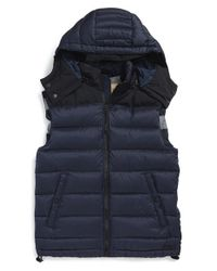Burberry Brit | Blue 'fitzroy' Down Vest for Men | Lyst