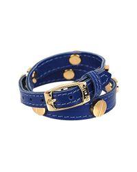CC SKYE - Blue The Signature Screw Bracelet Double Wrap In Gold - Lyst