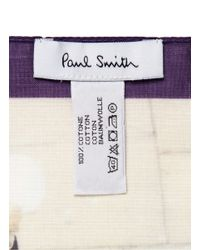 Paul Smith - Multicolor 'mr. Brown' Cotton Pocket Square for Men - Lyst
