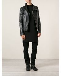 Rick Owens - Black Leather Jacket for Men - Lyst