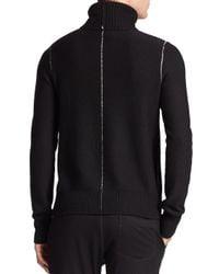 Rag & Bone - Black Wade Merino Wool Turtleneck Sweater for Men - Lyst